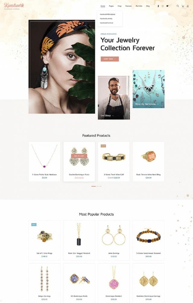 Mẫu website bán đồ thủ công mỹ nghệ Sài Gòn