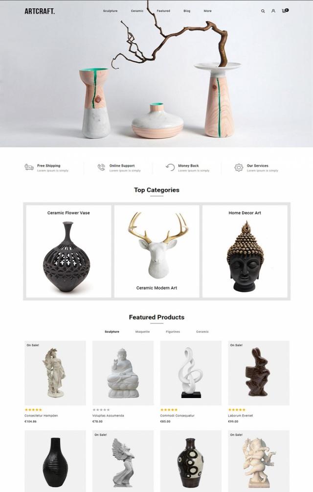 Mẫu web bán đồ thủ công mỹ nghệ