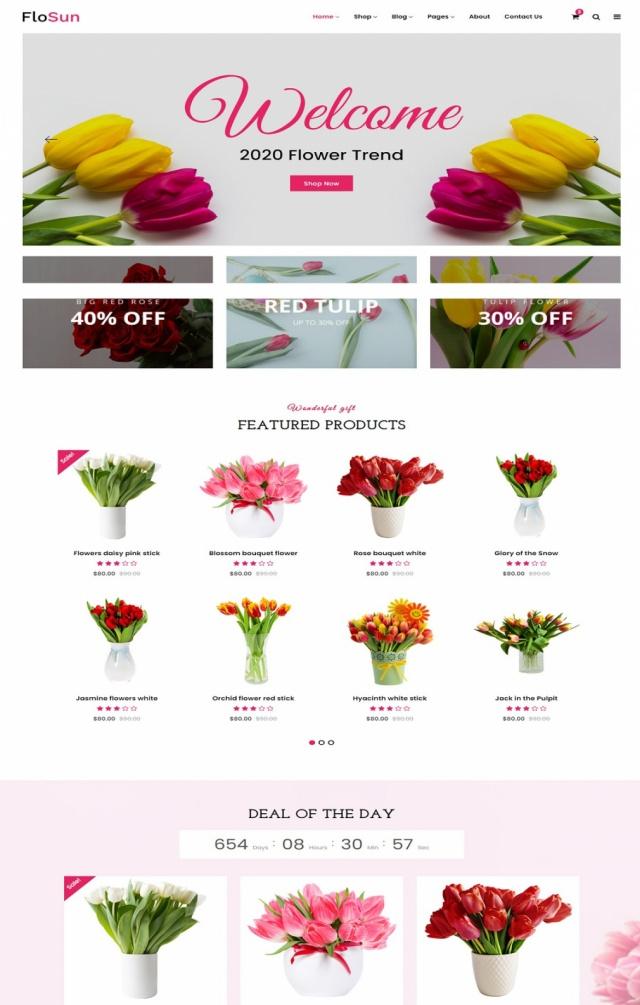 Mẫu web bán hoa S4