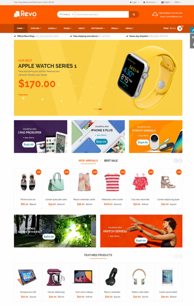 Web bán thiết bị viễn thông