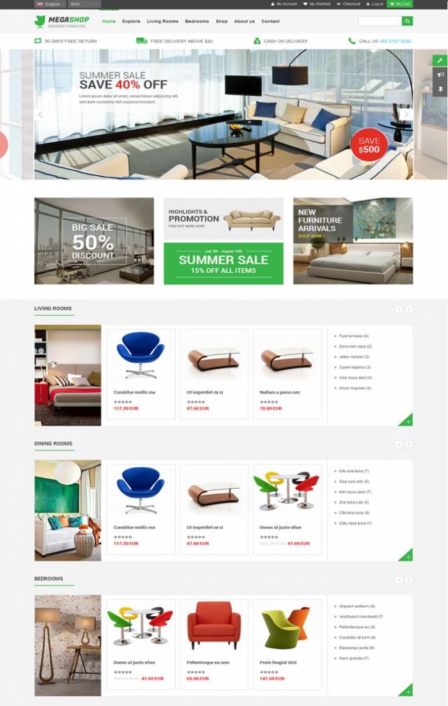 Web bán bàn ghế