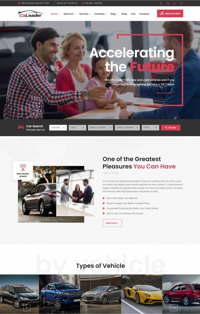 Mẫu web bán xe ô tô S2