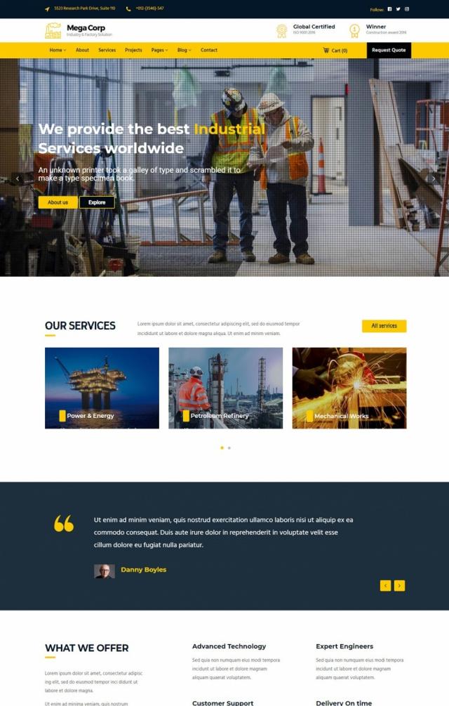 Mẫu web bán đồ công nghiệp S3