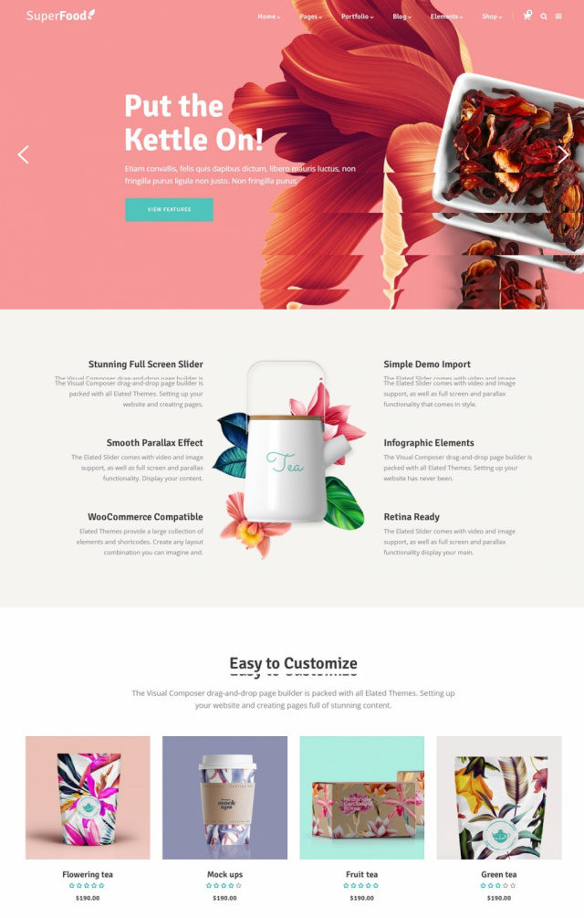 Mẫu web bán thực phẩm S5