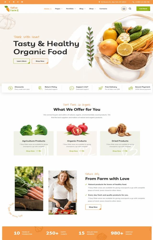 Mẫu web bán thực phẩm S4