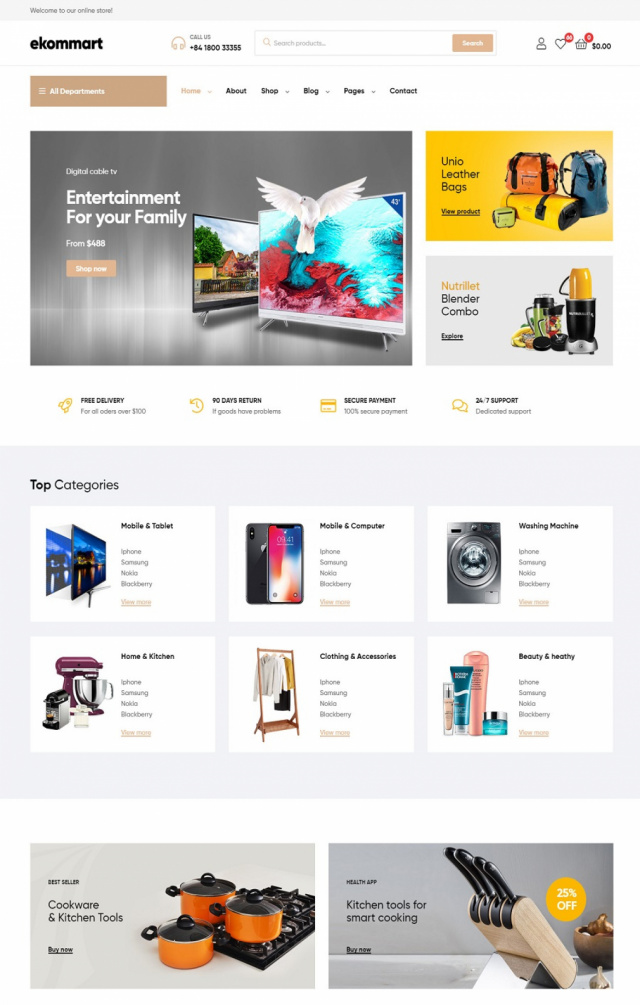 Mẫu web thương mại điện tử S1