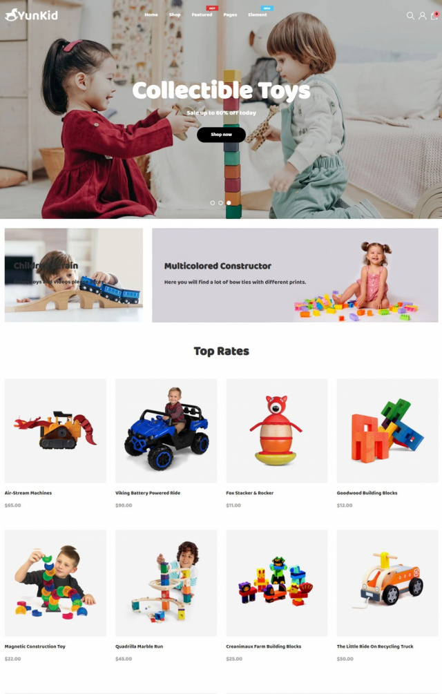 Mẫu website bán đồ chơi trẻ em S6
