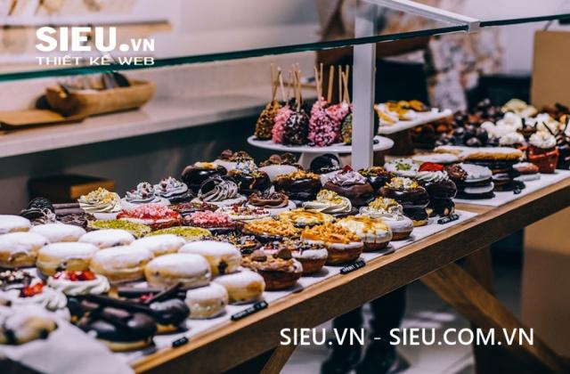 Thiết kế website tiệm bán bánh