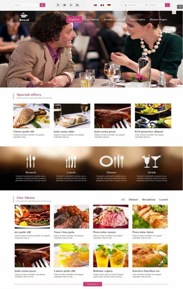 Mẫu web nhà hàng Z