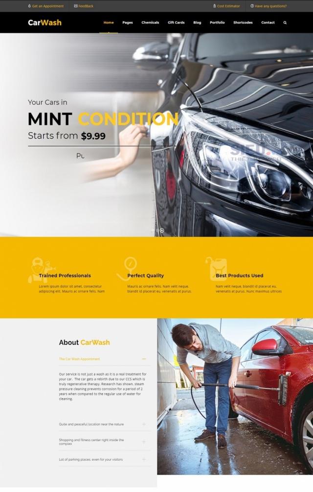 Mẫu web dịch vụ rửa xe S05