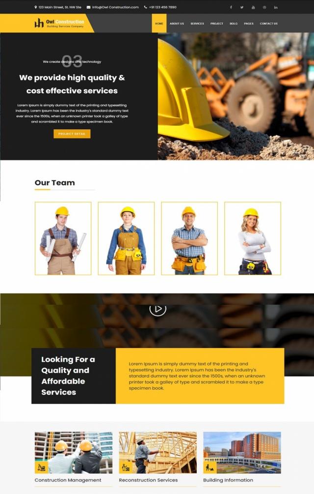 Mẫu web bán vật liệu xây dựng S2