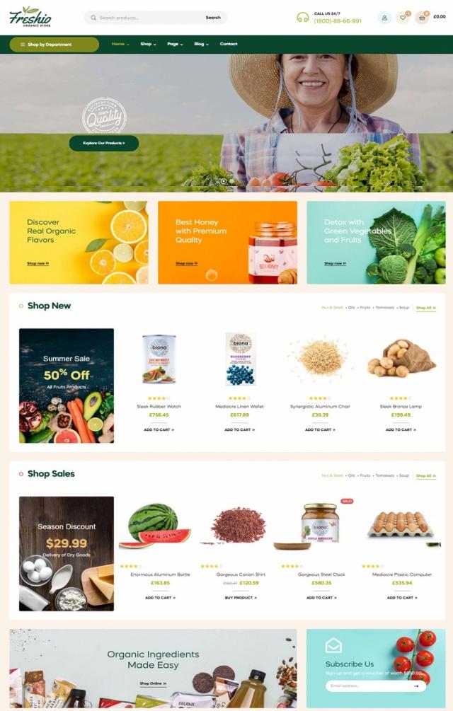 Mẫu web bán thực phẩm S2