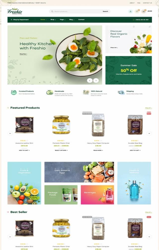 Mẫu web bán thực phẩm S6