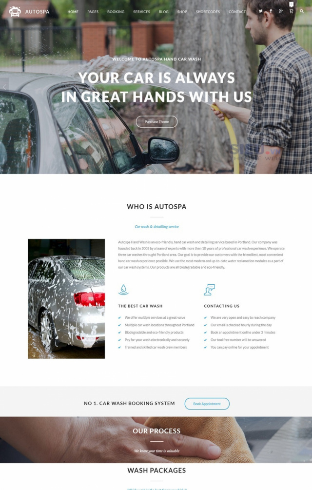 Mẫu web dịch vụ rửa xe S04