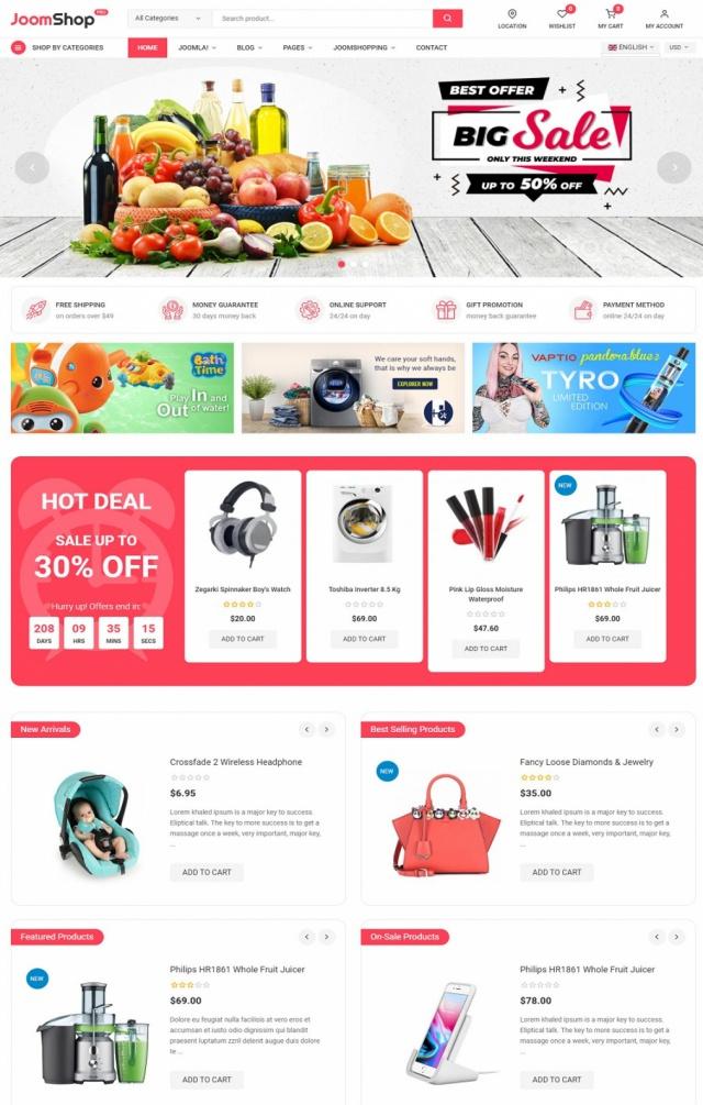 Mẫu web thương mại điện tử S6