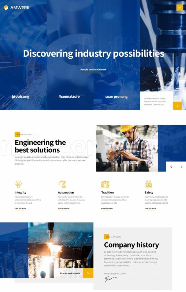 Mẫu web bán đồ công nghiệp S4
