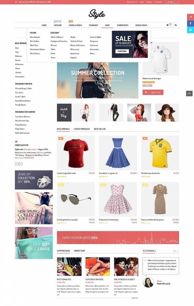 Web bán hàng thời trang mới