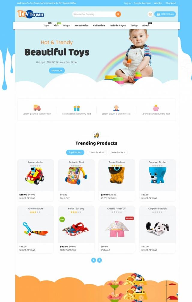 Mẫu website bán đồ chơi trẻ em S2