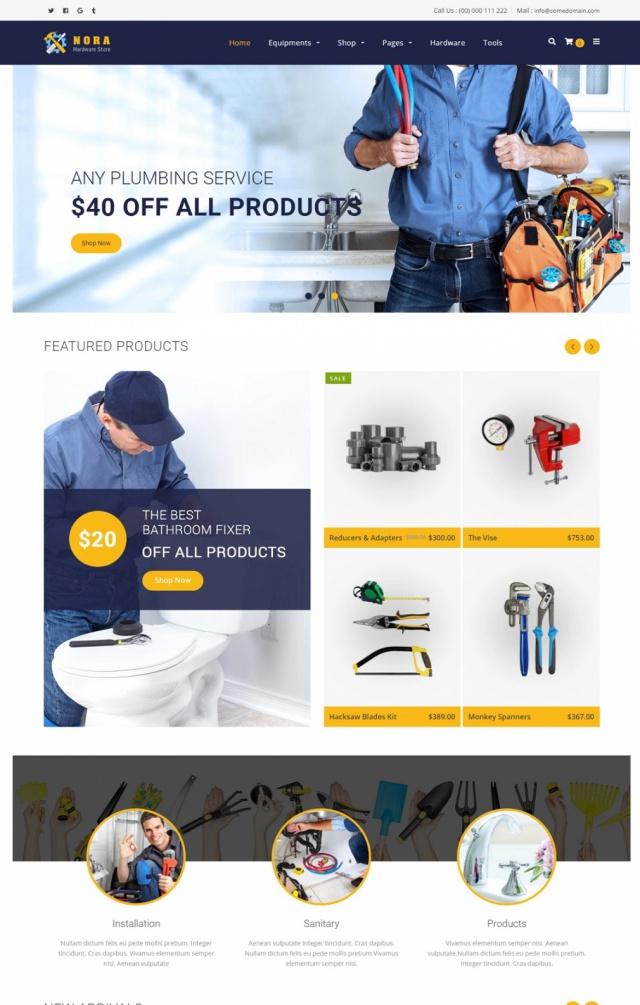 Mẫu web bán phụ tùng S5