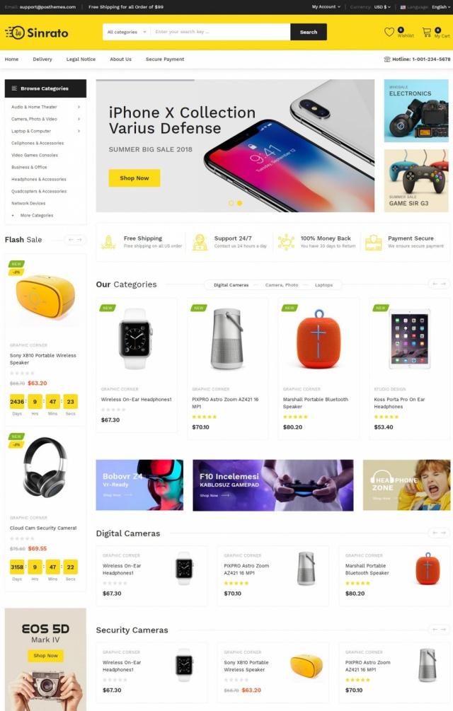 Mẫu web bán đồ điện máy S4