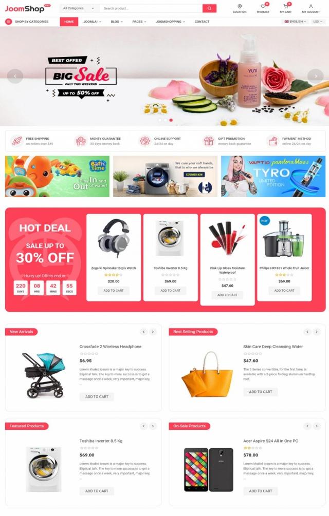 Mẫu website bán mỹ phẩm S9