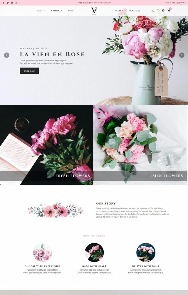 Mẫu web bán hoa S1