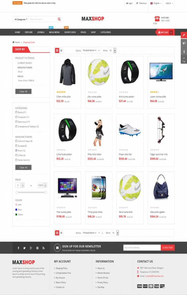 Web bán shop quần áo