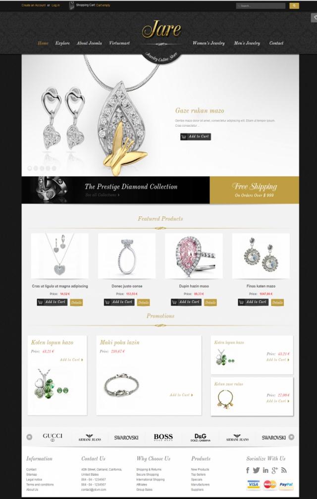 Web bán phụ kiện trang sức