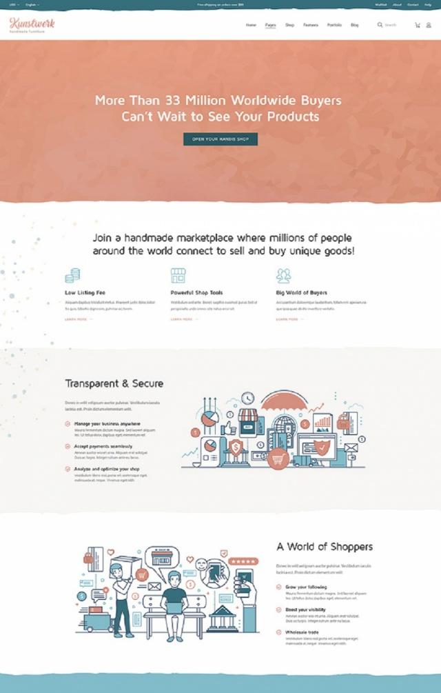 Mẫu website bán đồ thủ công mỹ nghệ