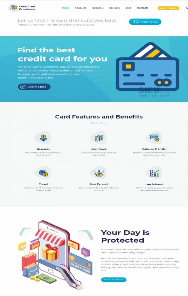 Mẫu web tín dụng S01