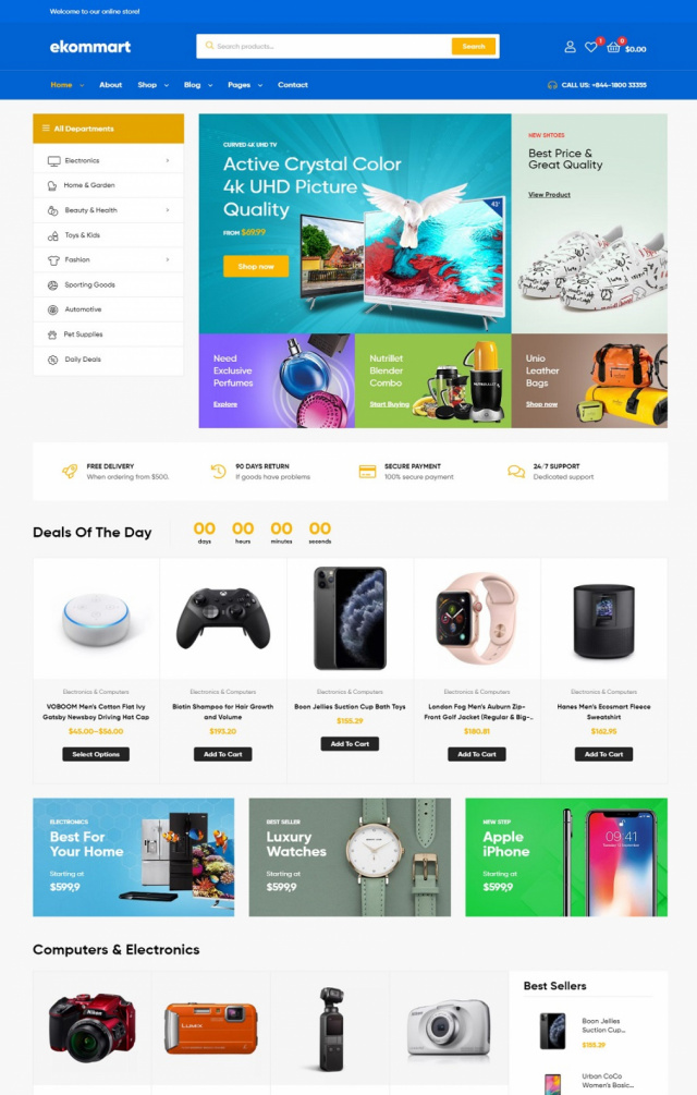 Mẫu web thương mại điện tử S3