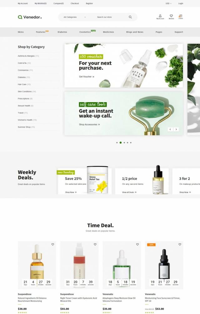 Mẫu website thẩm mỹ spa S4
