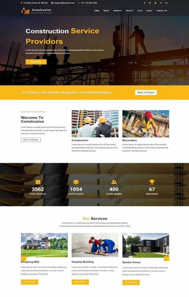 Mẫu web bán vật liệu xây dựng S4