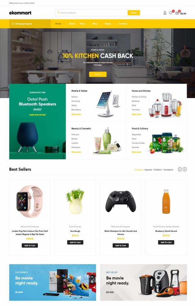 Mẫu web thương mại điện tử S2