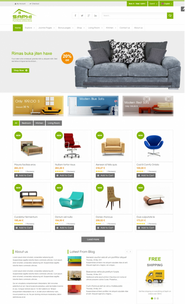 Web bán đồ nội thất