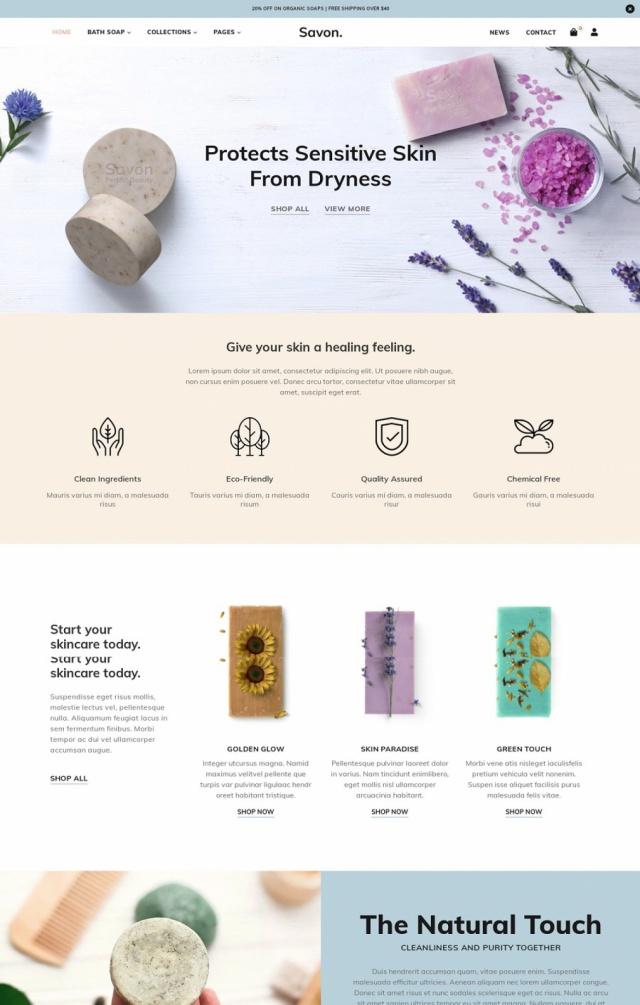 Mẫu website bán mỹ phẩm S8