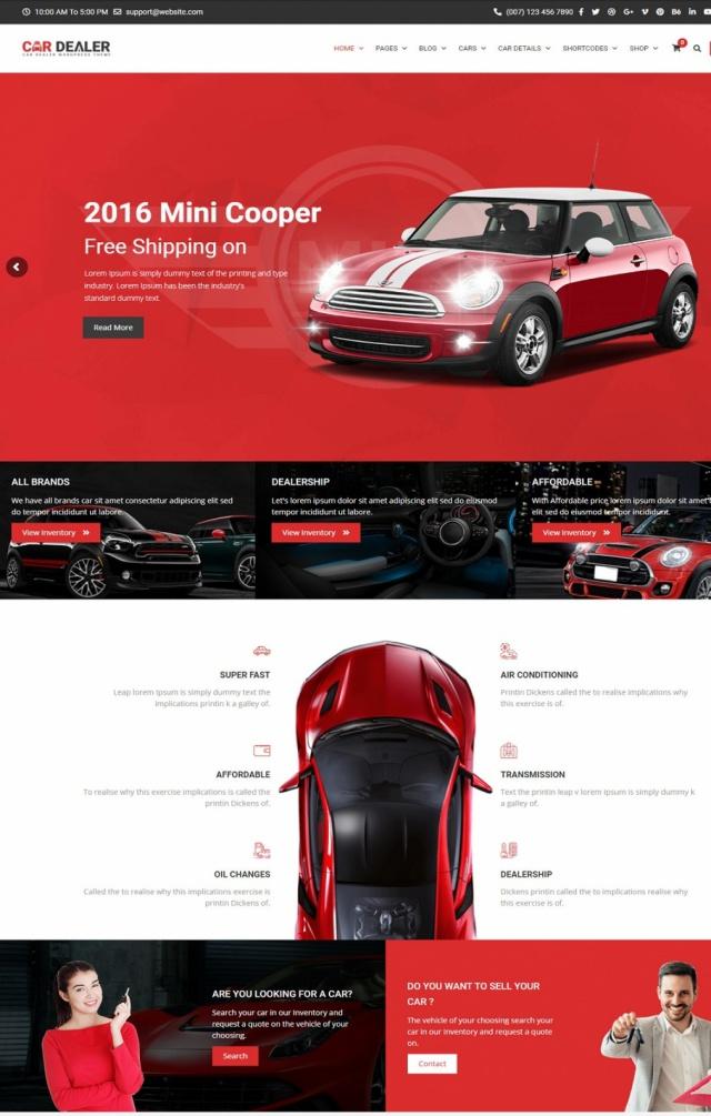 Mẫu web bán xe ô tô S6