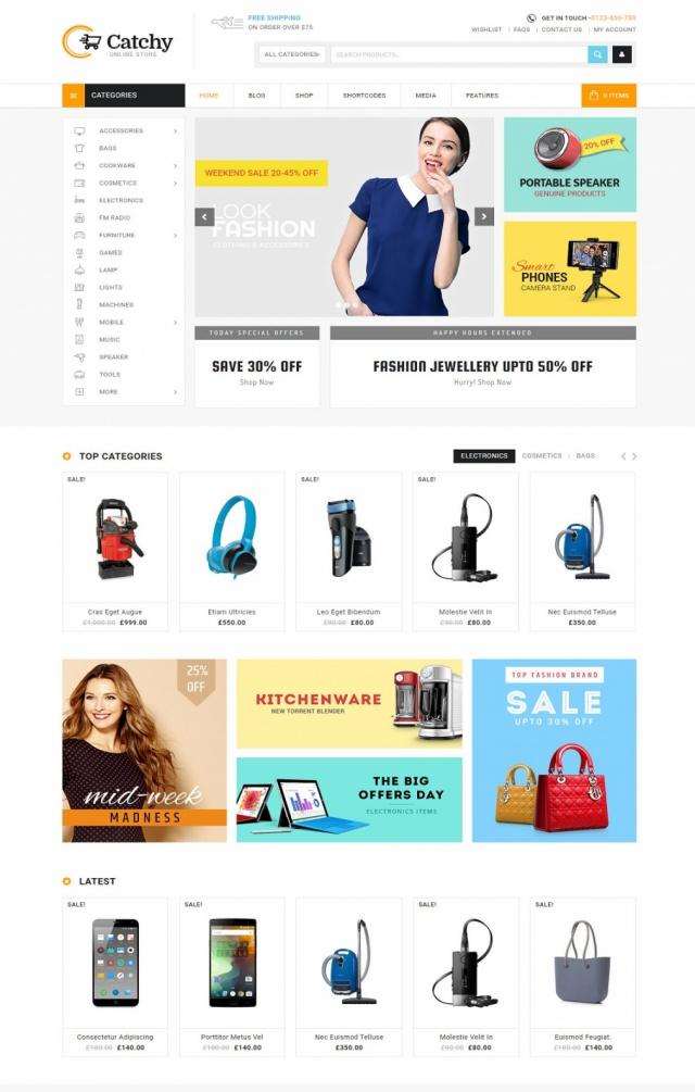 Mẫu web bán đồ gia dụng S3
