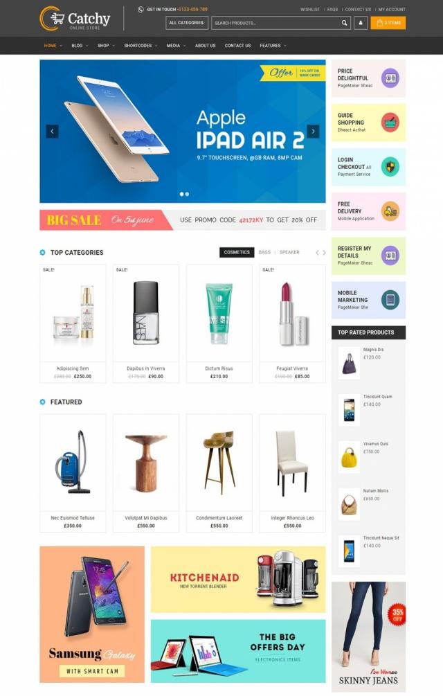 Mẫu web bán đồ gia dụng S4
