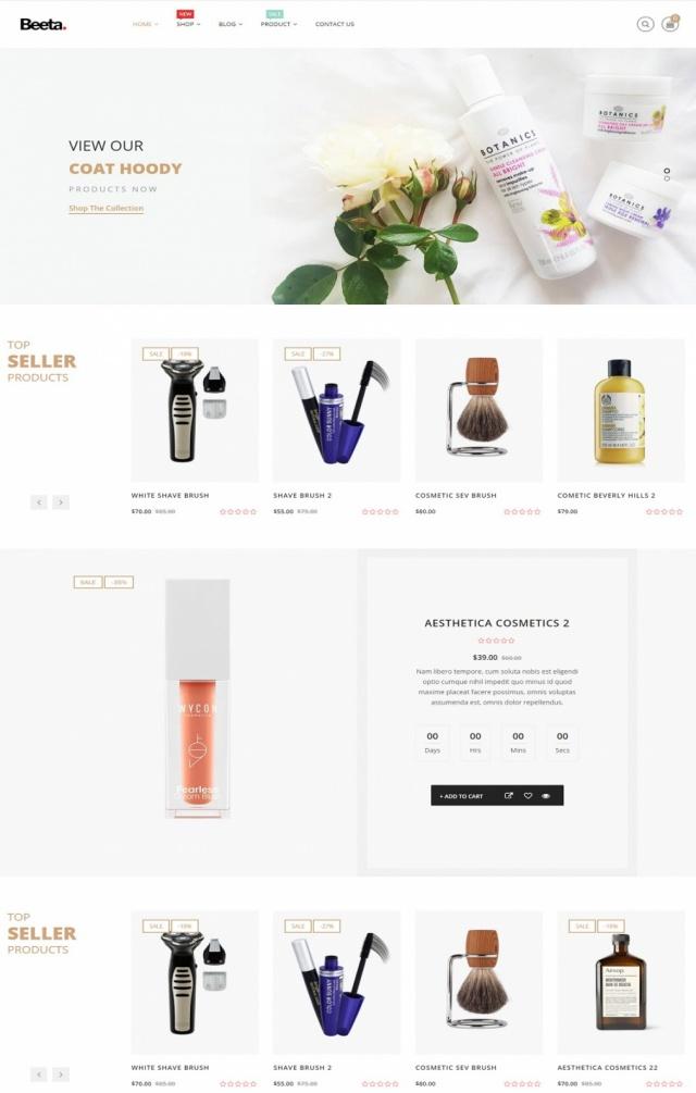 Mẫu website bán mỹ phẩm S4
