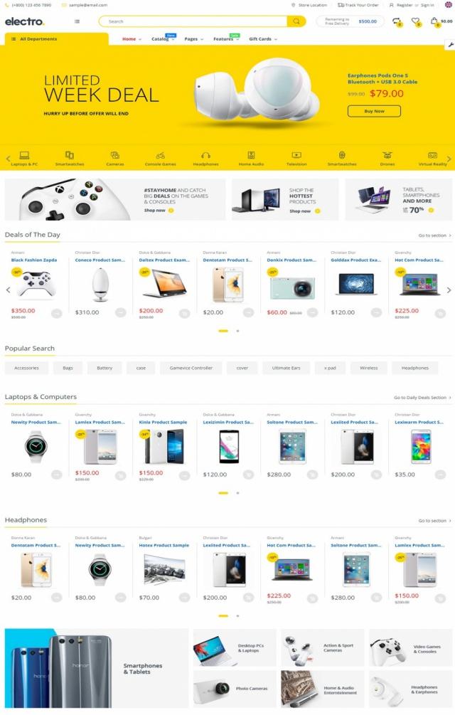 Mẫu web bán đồ gia dụng S2