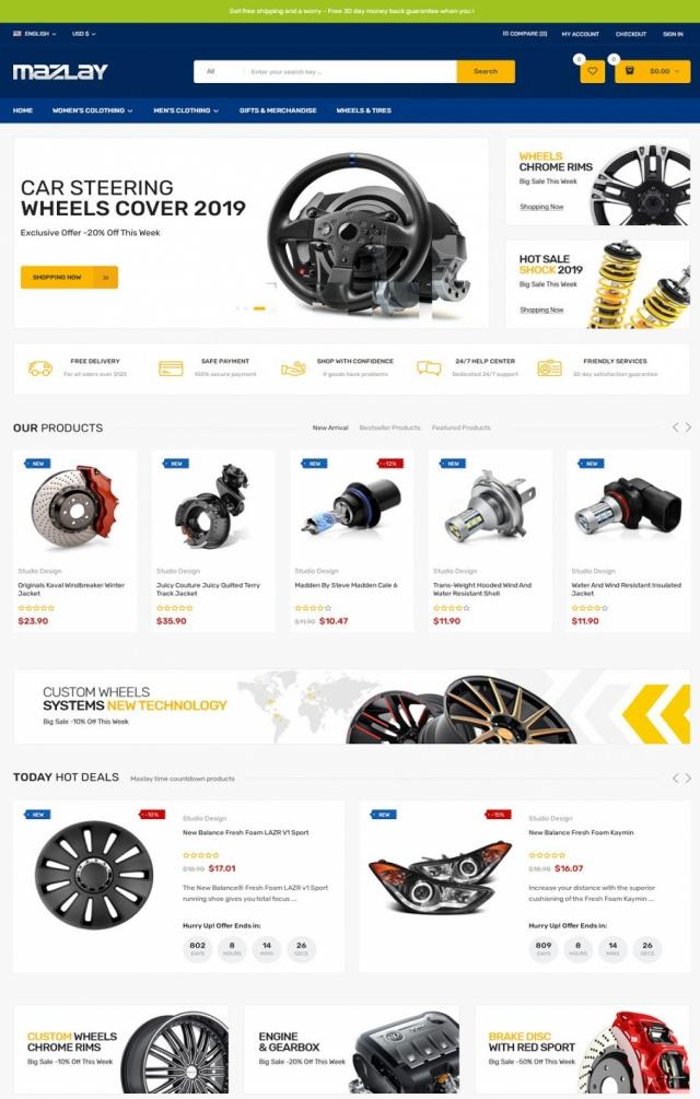 Mẫu web bán phụ kiện xe S6
