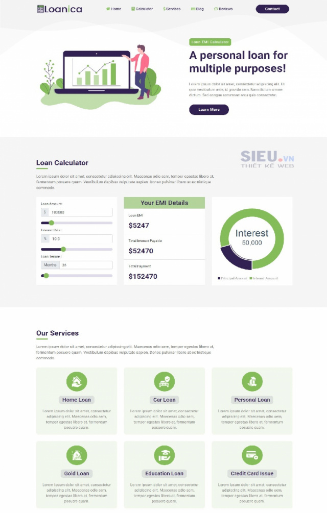 Mẫu web tín dụng S04