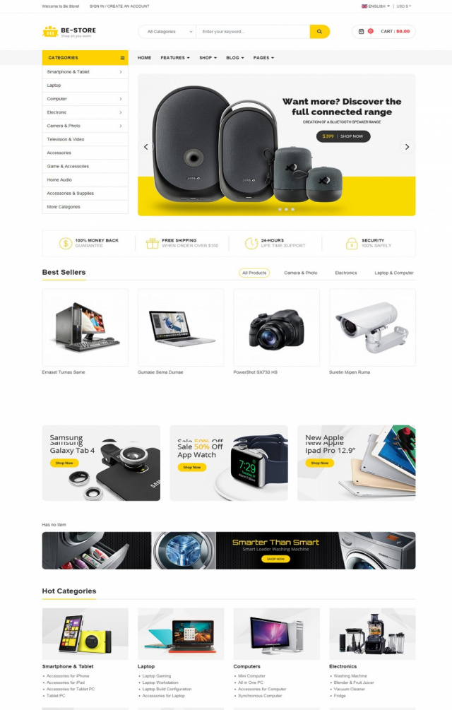 Mẫu web thương mại điện tử S5