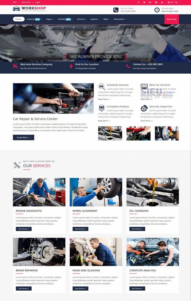 Mẫu web dịch vụ rửa xe S02