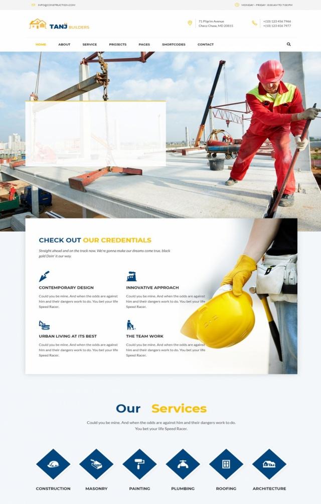 Mẫu web bán vật liệu xây dựng S3