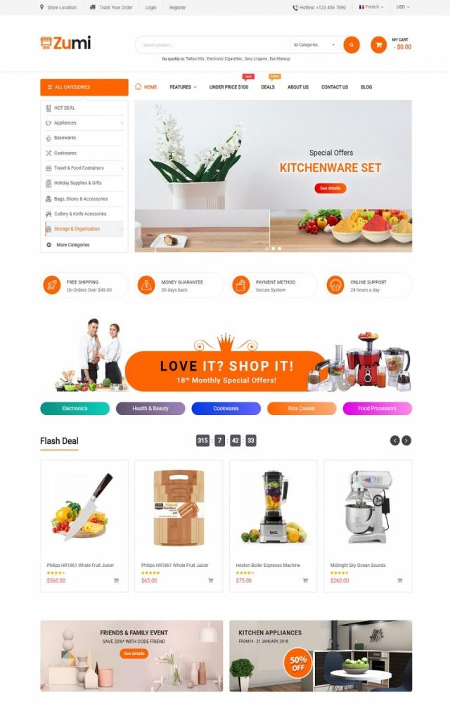 Mẫu web bán đồ gia dụng S5