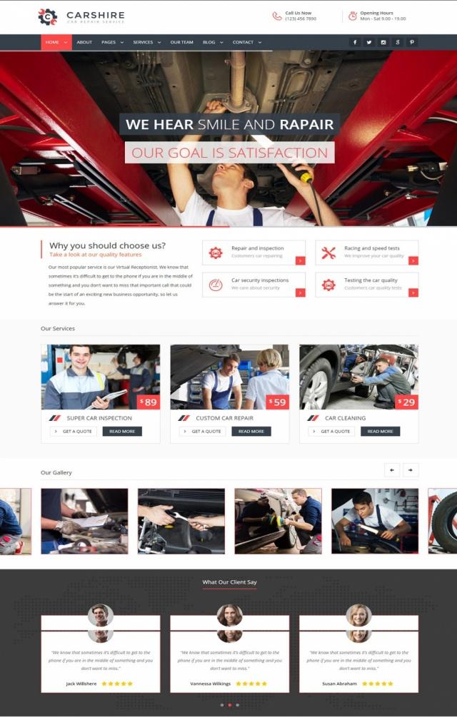 Mẫu web bán xe ô tô S3