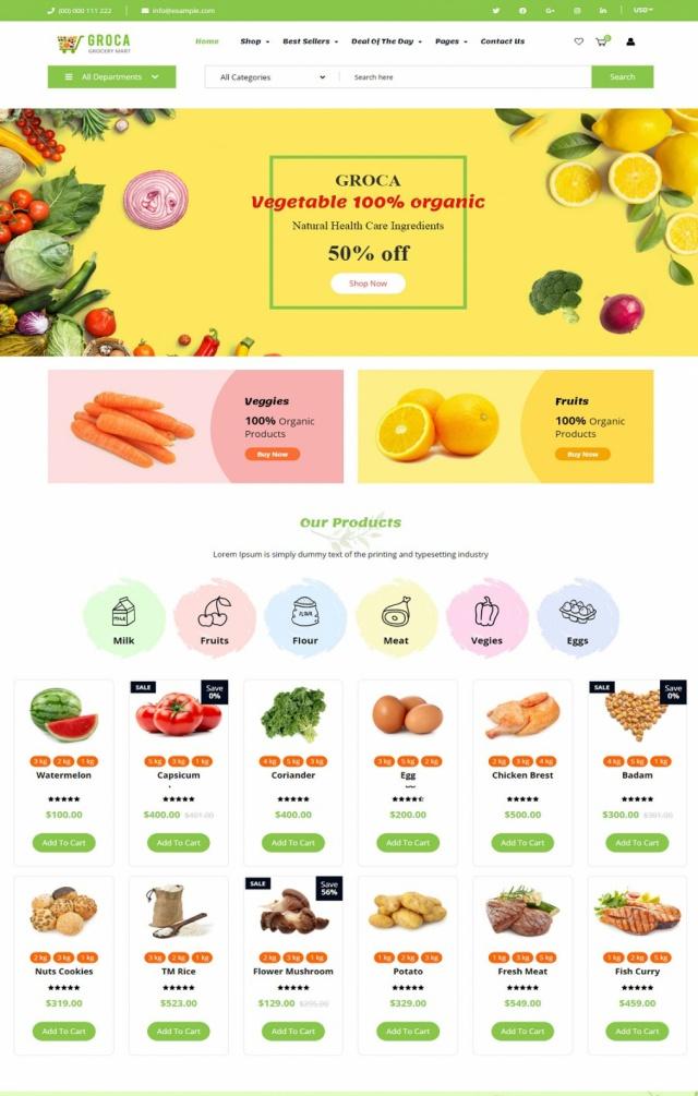 Mẫu web bán thực phẩm S3