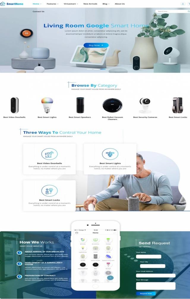 Mẫu web bán hàng thiết bị thông minh